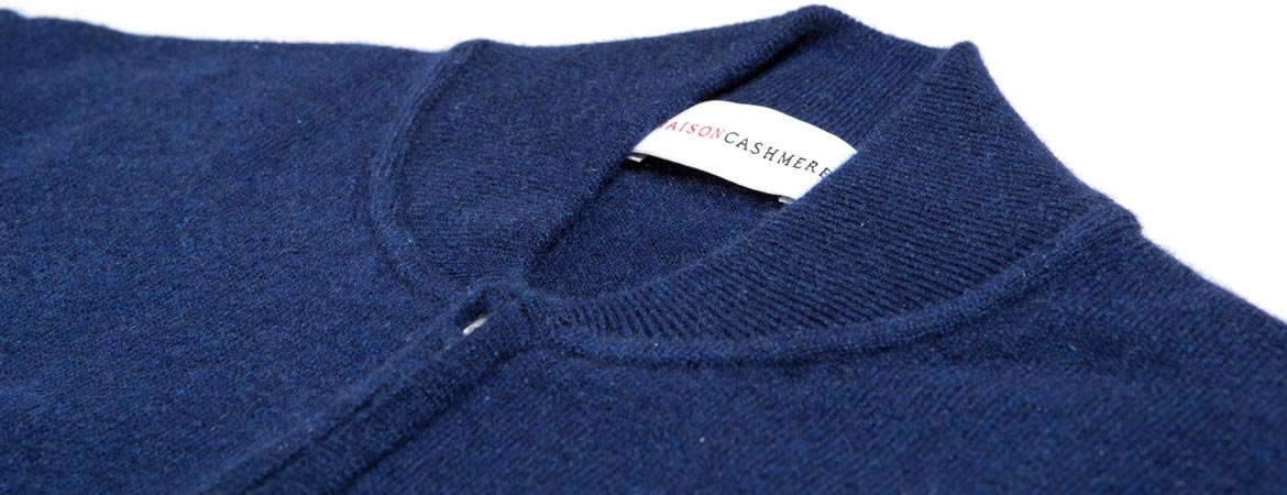 Cashmere Baseball Collar Cardigan