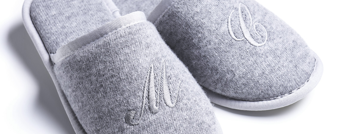 Unisex Cashmere Guest Slippers
