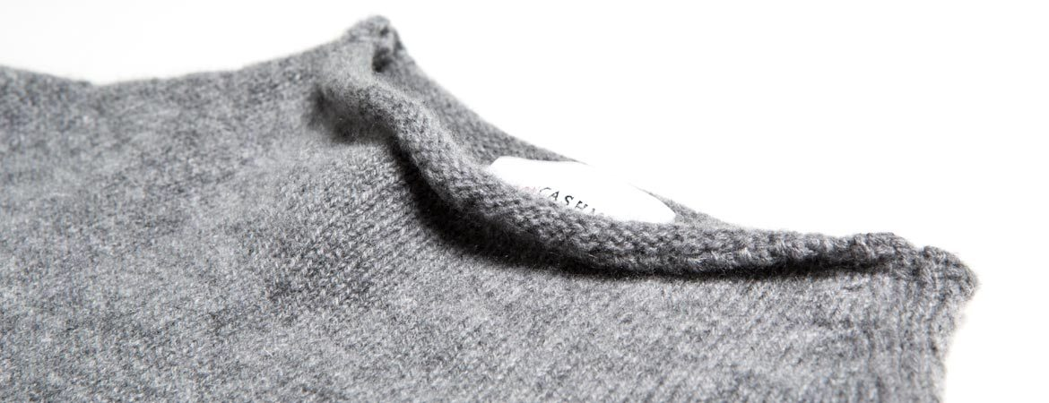 Lambswool & Cashmere Wide Funnel Neck Sweater