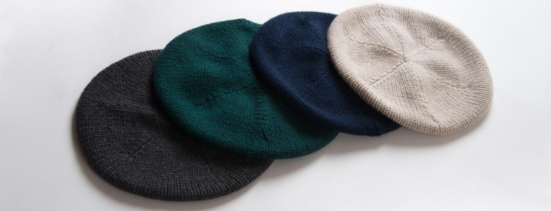 Cashmere Beret Knitting Pattern : Womens Pure Cashmere Beret MaisonCashmere